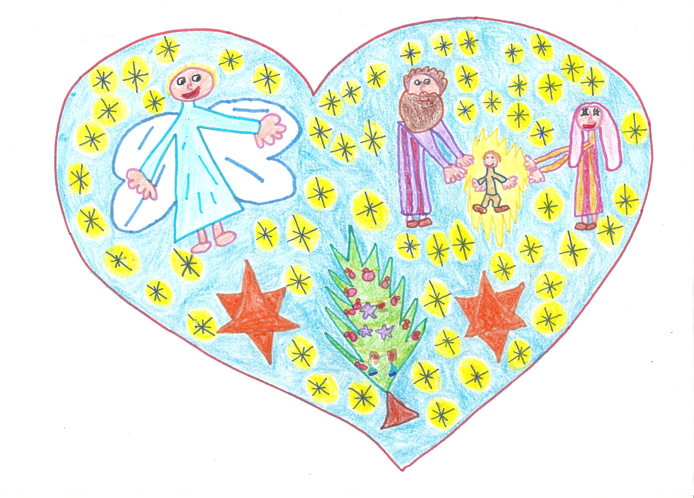3B. María Sancho Gallego. 8 años. Cat. B. Amor en la Navidad. Hermandad de Antiguos Empleados CAI