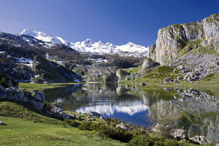 Lago Ercina en primavera - Parque nacional de Picos de Europa (Cangas de Onís)